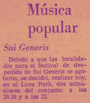 1975 sui generis se despide